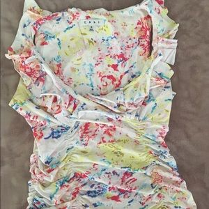 Vintage CAbi multi-color,  sleeveless top